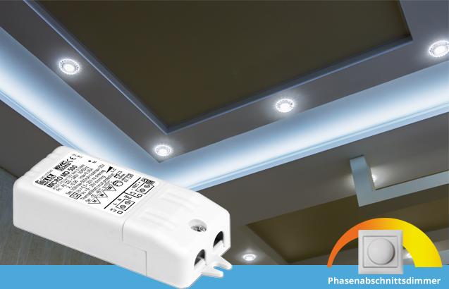 TCI MICRO MD – LED Konverter für LED Einbaustrahler |  Phasenabschnitt dimmbar